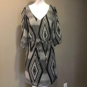 Be Bop Black & White Dress